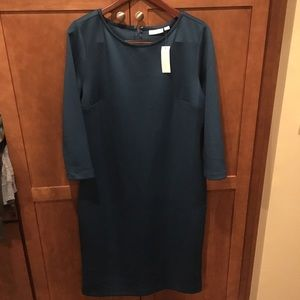 Blue New York and Co. midi dress with sleeves NWT